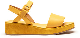 Tracey Neuls - BARBARA Dijon | Yellow Leather Strap Sandals - 37