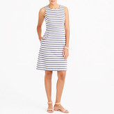J.Crew Factory Striped pleated shift dress