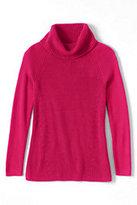 Classic Women's Plus Size Cotton Shaker Cowl Neck Sweater-Fresh Tangerine