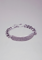 Bebe Pave Chainlink ID Bracelet