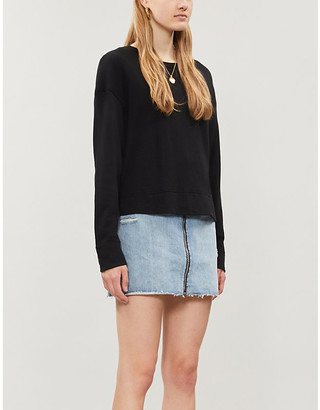 James Perse Cropped boxy-fit cotton-jersey sweatshirt