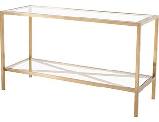 Blink Home Gardner 54'' Console Table Color: Antique Gold