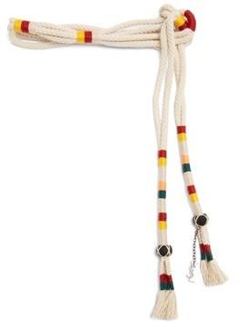 Saint Laurent Striped Rope Belt - Womens - Multi