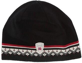 Dale of Norway Moritz Hat (Dark Charcoal/Raspberry/Off-White/Black) Caps