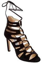 Jimmy Choo Hitch 100 Suede Strappy Heeled Sandal.
