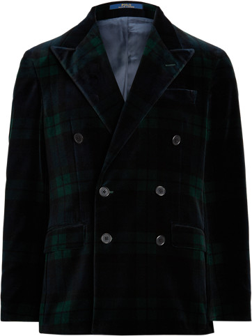 Ralph Lauren Polo Tartan Velvet Dinner Jacket
