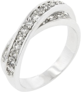 Overstock Double Cross Cubic Zirconia Ring
