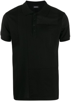 Diesel patchwork polo shirt