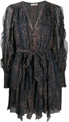 Ulla Johnson Snake-Print Dress