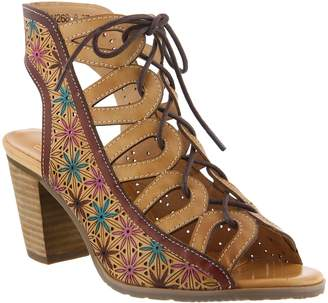 Spring Step L'Artiste by Leather Lace Up Sandals - Laure