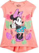 Freeze Minnie Mouse Coral Hi-Low Raglan Tee - Girls