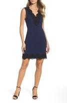 Charles Henry Women's Lace Trim Sheath Dress