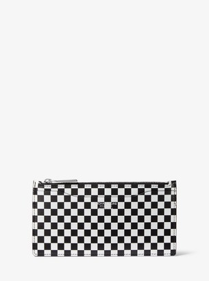 Michael Kors Large Checkerboard Leather Card Case