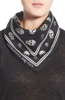 Alexander McQueen Skull Print Silk Twill Scarf
