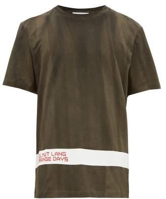 Helmut Lang Strange Days Logo-printed Cotton T-shirt - Mens - Black White