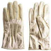 Topshop Metallic Leather Gloves