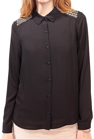 Forever 21 Studded Button Up