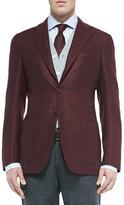 Kiton Menswear Houndstooth Three-Button Jacket