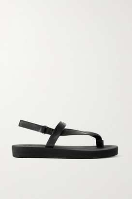 Giuseppe Zanotti Logo-embellished Leather Platform Sandals - Black