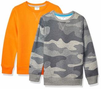 Spotted Zebra 2-Pack Crew Sweatshirts Fast Food/Grey L