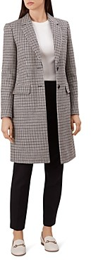 Hobbs London Tilda Houndstooth Coat - 100% Exclusive
