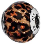 Murano Prerogatives Brown with Jaguar Spots Italian Glass Bead