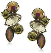 "Sorrelli Green Tapestry"" Petite Crystal Cluster Post Earrings"