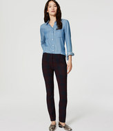LOFT Petite Plaid Essential Skinny Ankle Pants in Marisa Fit