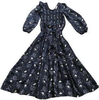 Apiece Apart Blue Silk Dresses