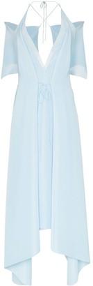 Roland Mouret Ballard cold-shoulder gown