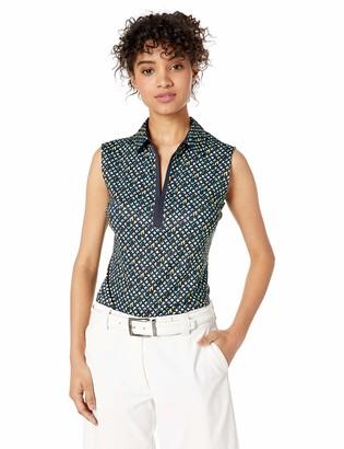 Cutter & Buck Women's Moisture Wicking Drytec UPF 50+ Sleeveless Jersey Polo Shirt