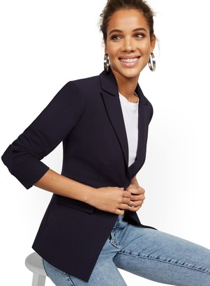 New York & Co. Faux-Pocket Button-Front Blazer - Double Stretch