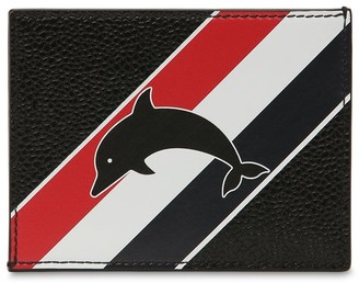 Thom Browne Dolphin Print Leather Card Holder