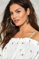Nasty Gal nastygal Loop Me In Hoop Earrings