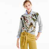 J.Crew Botanical sweatshirt with floral patches