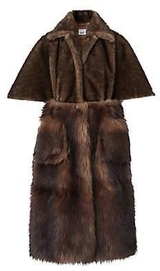 Burberry Women's Short-Sleeve Faux Fur Coat