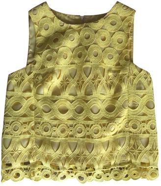 Dondup Yellow Cotton Top for Women