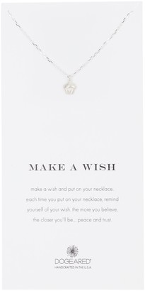 Dogeared Sterling Silver Make A Wish Cupcake Pendant Necklace
