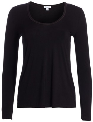 Splendid V-neck Long Sleeve Tee