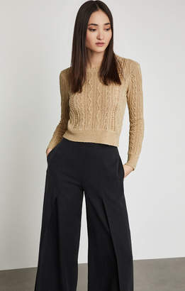 BCBGMAXAZRIA Caleste Cable And Lace Sweater