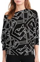 Lauren Ralph Lauren Petite Geometric-Print Sweater