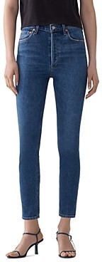 AGOLDE Nico High Rise Cropped Skinny Jeans in Subdued