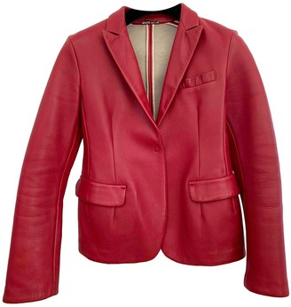 Miu Miu Red Leather Jacket for Women