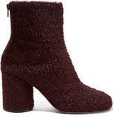 Maison Margiela Calf Hair Ankle Boots - Burgundy