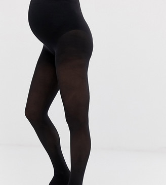 Mama Licious Mamalicious Maternity 2 pack 50 denier tights in black