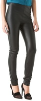 Solid Faux Leather Leggings