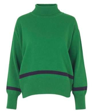 Libertine-Libertine Green Husky Knit Jumper - XS/UK6 | green | wool - Green/Green