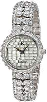 Adee Kaye Women's Quartz Brass Dress Watch, Color:Silver-Toned (Model: AK9701-L)
