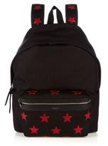 Saint Laurent Star-appliqué Canvas Backpack