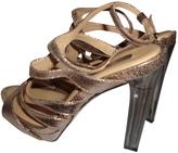 BCBGMAXAZRIA Gold Leather Sandals